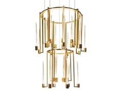Lampada a sospensione a LED in vetro di Murano e ottoneKALÌ   Lampada a sospensione - PAOLO CASTELLI