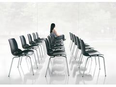 Sedia impilabile in tecnopolimero KALEIDOS | Sedia impilabile - Kaleidos
