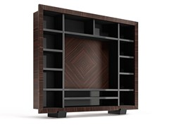 Parete attrezzata in legno con porta tv KALISPERA -