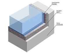 Sistema di isolamento per piscine riscaldate e sottofondi KALMEX SPORT - BUILDING IN THE WORLD