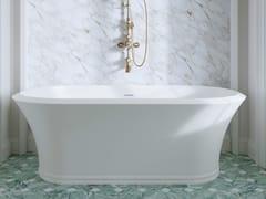 Vasca da bagno centro stanza ovale in White Tec PlusKALOS | Vasca da bagno - DEVON&DEVON