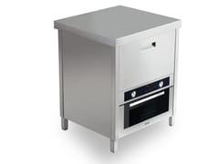 Modulo cucina freestanding in acciaio inoxKALOS KA070EUP - GPS INOX