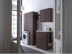 Ideagroup, KANDY 02 Mobile lavanderia in nobilitato per lavatrice