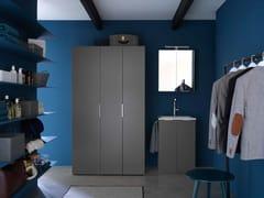 Ideagroup, KANDY 04 Mobile lavanderia in nobilitato con lavatoio per lavatrice