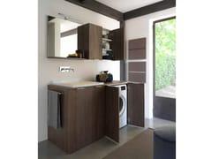Ideagroup, KANDY 06 Mobile lavanderia in nobilitato con lavatoio per lavatrice