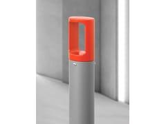 City Design, KARL Dissuasore a paletto fisso in acciaio con basamento