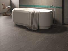 Pavimento/rivestimento in gres porcellanato per interni KARMAN LEGNO ANTRACITE - Karman