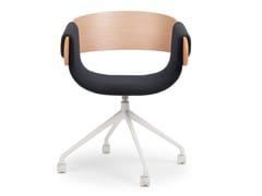 Sedia ufficio in tessuto e legno con ruote su trespoloKAY | Sedia ufficio - TRUE DESIGN