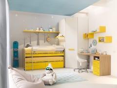 Cameretta in legno con letto estraibileKC304 | Cameretta - MORETTI COMPACT