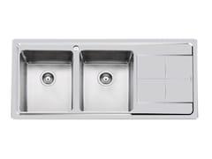 Lavello a 2 vasche in acciaio inox con gocciolatoioKE 2VDX+SC S/FT TPR INOX - FOSTER