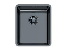 Lavello a una vasca sottotop in acciaio inoxKE R15 34X40 S/TOP GUNMETAL - FOSTER