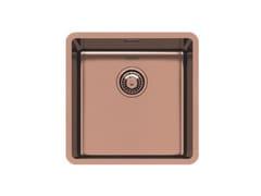 Lavello a una vasca sottotop in acciaio inoxKE R15 40X40 S/TOP COPPER B. - FOSTER