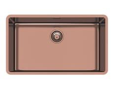 Lavello a una vasca sottotop in acciaio inoxKE R15 71X40 S/TOP COPPER B. - FOSTER