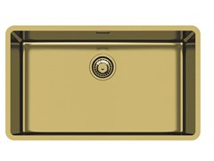 Lavello a una vasca sottotop in acciaio inoxKE R15 71X40 S/TOP GOLD - FOSTER
