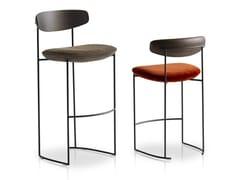 Sgabello con struttura in metallo e seduta in tessutoKEEL | Sgabello - POTOCCO