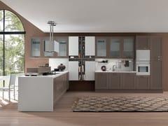 Cucina componibile laccata con penisola KELLY   Cucina con penisola -