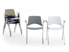 Sedia impilabile pieghevole con braccioliLAKENDÒ PLASTIC | Sedia con braccioli - DIEMMEBI