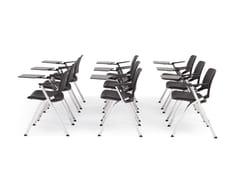 Sedia impilabile pieghevole con braccioliLAKENDÒ PLASTIC | Sedia da conferenza con ribaltina - DIEMMEBI