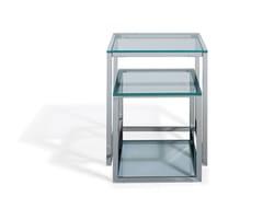 Tavolino di servizio in vetro KENDO | Tavolino in vetro - Kendo