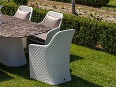 Sedia da giardino in resina con braccioliKENZIA | Sedia con braccioli - DFN