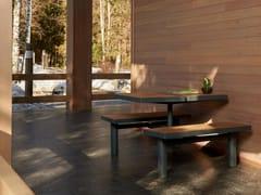 Tavolo da picnic in acciaio e legno con panchine integrateKFC | Tavolo da picnic - PUNTO DESIGN