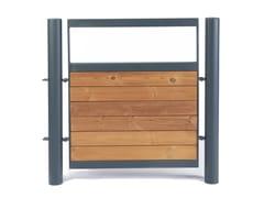 Cancello pedonale in acciaio e legnoKFC | Cancello - PUNTO DESIGN