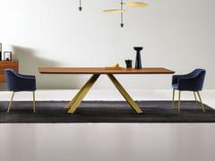 Tavolo da pranzo con base in metalloKI   Tavolo rettangolare - APP DESIGN