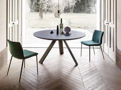 Tavolo da pranzo con base in metalloKI   Tavolo rotondo - APP DESIGN