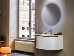 Mobile lavabo in cristallo smaltato con cestoneKIMONO - ARTELINEA