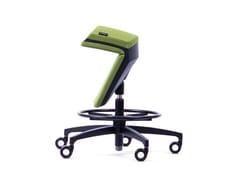 Sgabello da ufficio a 5 razze ad altezza regolabile ergonomico in tessutoKINEMA® GREEN - KINEMA