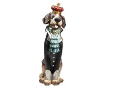 Scultura in resina KING DOG -