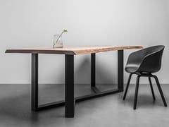 Tavolo rettangolare in acciaio e legnoKING - HOOM