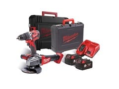 Kit trapano e smerigliatrice KIT M18 CBLPP2E-502C - MILWAUKEE ELECTRIC TOOL CORPORATION