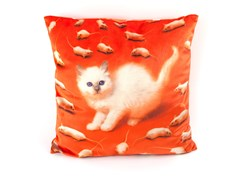 Cuscino quadrato in tessuto KITTEN | Cuscino - Seletti wears Toiletpaper