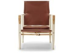 Poltroncina imbottita in frassino con cuscino integratoKK47000 | Safari Chair - CARL HANSEN & SØN MØBELFABRIK A/S