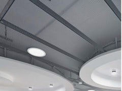 Pannelli per controsoffitto in metallo KNAUF ARMSTRONG MESH CONFIGURABLE - KNAUF CEILINGS SOLUTIONS
