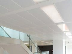 Pannelli per controsoffitto in metallo KNAUF ARMSTRONG METAL LINEAR AND TARTAN - KNAUF CEILINGS SOLUTIONS