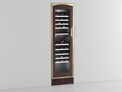 Cantinetta frigo da incasso verticale in acciaio inox con anta in vetro classe A++KNTG401I | Cantinetta frigo da incasso - OFFICINE GULLO