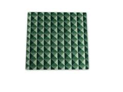 Tappeto fatto a mano optical quadrato in lana KNURLED   Tappeto quadrato -