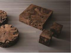 Tavolino quadrato in Radica di Teak KOBE | Tavolino quadrato - Eno