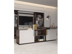 Parete attrezzata in legno con porta tv KOKKO LIVING - CAPITAL COLLECTION IS A BRAND OF ATMOSPHERA
