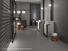 Rivestimento in ceramica a pasta bianca effetto cemento KONE WALL | Rivestimento - Kone