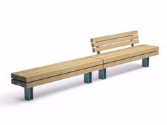VESTRE, KONG Panchina componibile modulare in acciaio e legno
