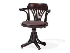 Sedia girevole in legno KONTOR | Sedia girevole -
