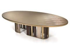 Tavolo ovale con piano in VetriteKORO | Tavolo - SICIS