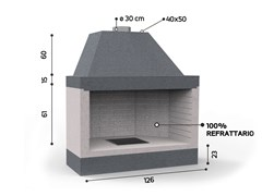 Caminetto a legna aperto in ceramica refrattariaKR 1250 | Caminetto - EDILMARK