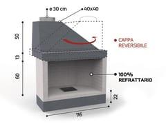 Caminetto a legna aperto in ceramica refrattariaKR 210 | Caminetto - EDILMARK