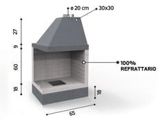 Caminetto a legna angolare in ceramica refrattariaKR 65×65 | Caminetto angolare - EDILMARK