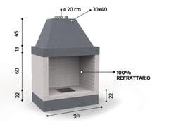 Caminetto a legna aperto in materiali ceramiciKR 690 | Caminetto - EDILMARK