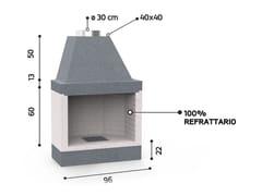 Caminetto a legna aperto in ceramica refrattariaKR 80 SUPER | Caminetto a legna - EDILMARK